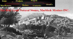 The Holy Land Natural Stones