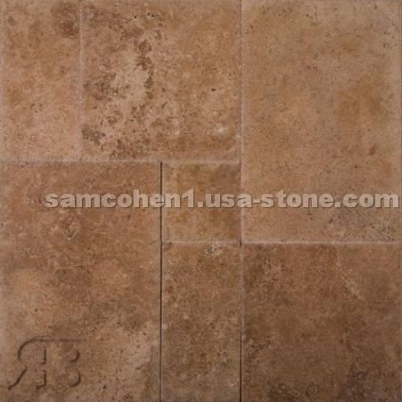 Versailles Pattern Stone Tile - Travertine and Slate patterns
