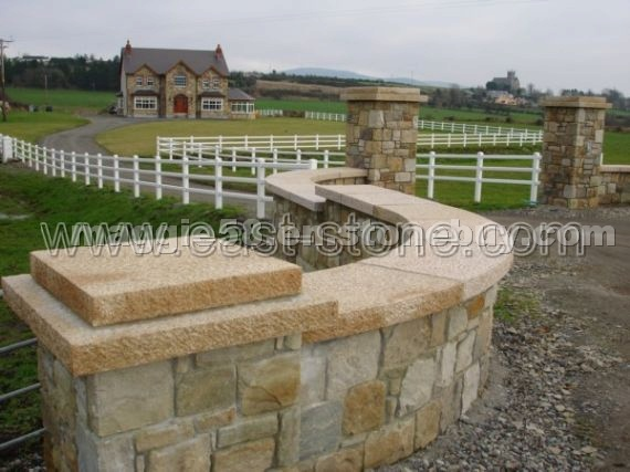 Natural Stone Pillars Caps : Wall caps pier door pillars detailed info for