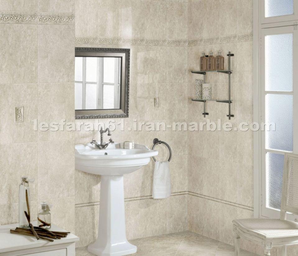 Perlato Marble Iran Bath Design Detailed Info For