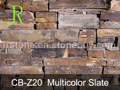 Multicolor Slate Stone Panel