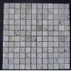 Wooden Beige Marble & Resin Mixed Mosaic CTR-GM-S1