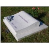 White granite scroll design memorial