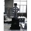 Black graite monument