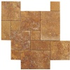 Yellow Travertine French Pattern