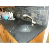 Undermount bowl sink in Brazilian soapstone